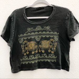 Urban Outfitters Distressed Cropped Tee